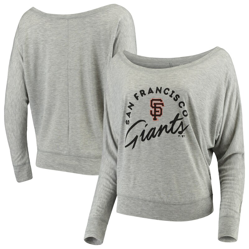 San Francisco Giants Let Loose by RNL Women's Arch Team Flow Long Sleeve T-Shirt- Heathered Gray