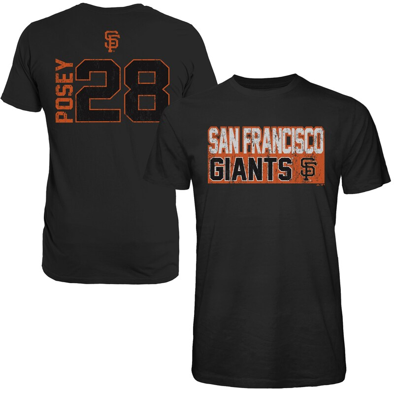 Buster Posey San Francisco Giants Majestic Threads Sidewinder Name & Number T-Shirt - Black