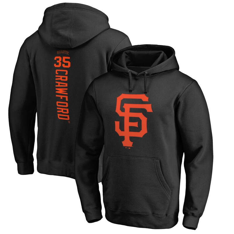 Brandon Crawford San Francisco Giants Fanatics Branded Backer Pullover Hoodie - Black