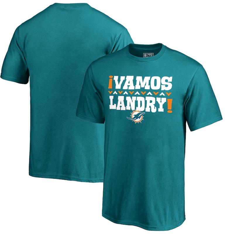 Jarvis Landry Miami Dolphins NFL Pro Line by Fanatics Branded Youth Vamos T-Shirt - Aqua