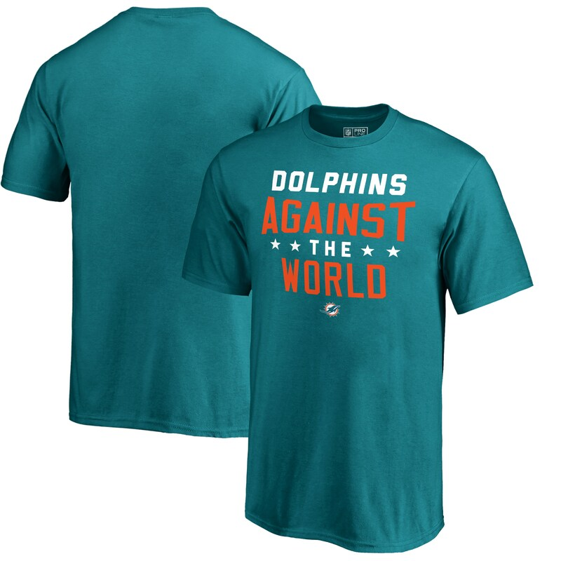 Miami Dolphins NFL Pro Line by Fanatics Branded Youth Against The World T-Shirt - Aqua