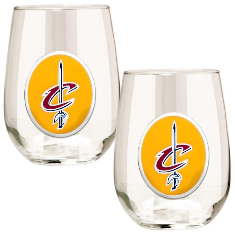 Cleveland Cavaliers Stemless Wine Glass Set