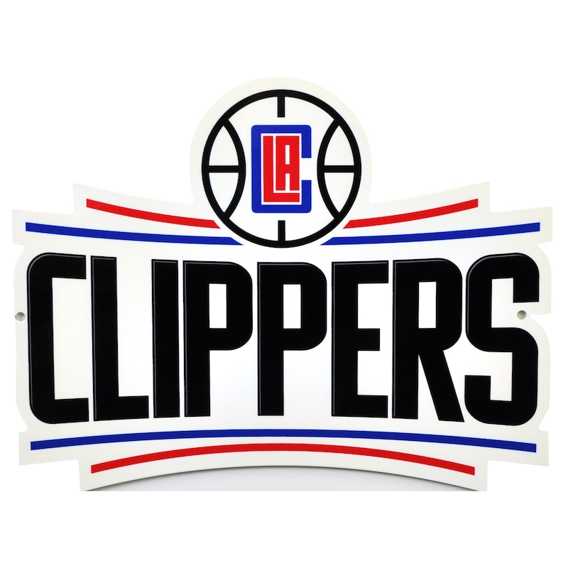 "LA Clippers 12"" Steel Logo Street Sign"