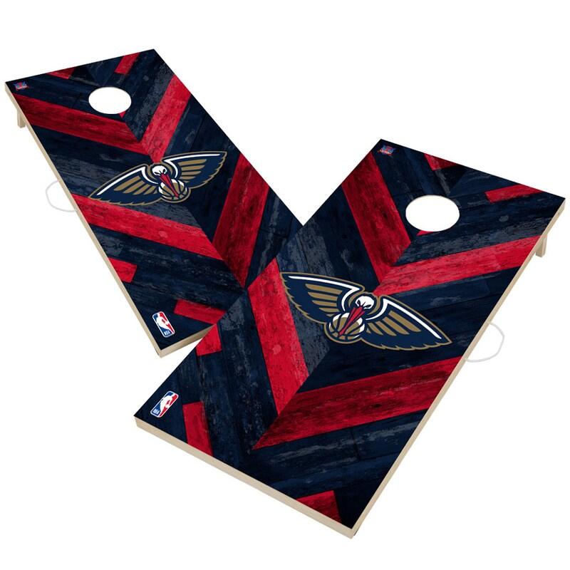 New Orleans Pelicans 2' x 4' Herringbone Design Cornhole Set