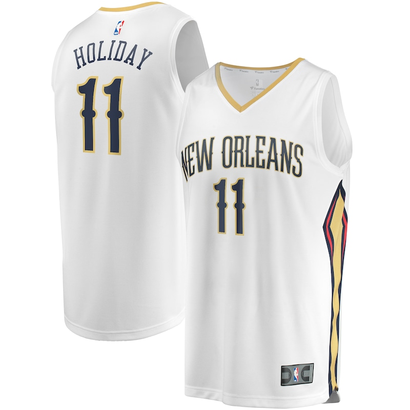 Jrue Holiday New Orleans Pelicans Fanatics Branded Youth Fast Break Replica Player Jersey - Association Edition - White