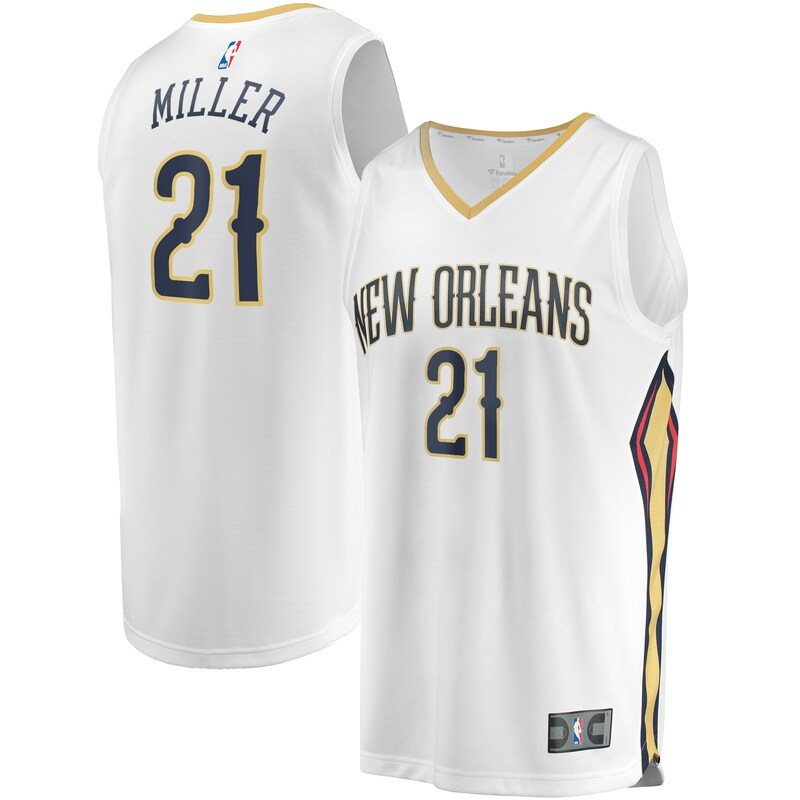 Darius Miller New Orleans Pelicans Fanatics Branded Youth Fast Break Replica Player Jersey - Association Edition - White