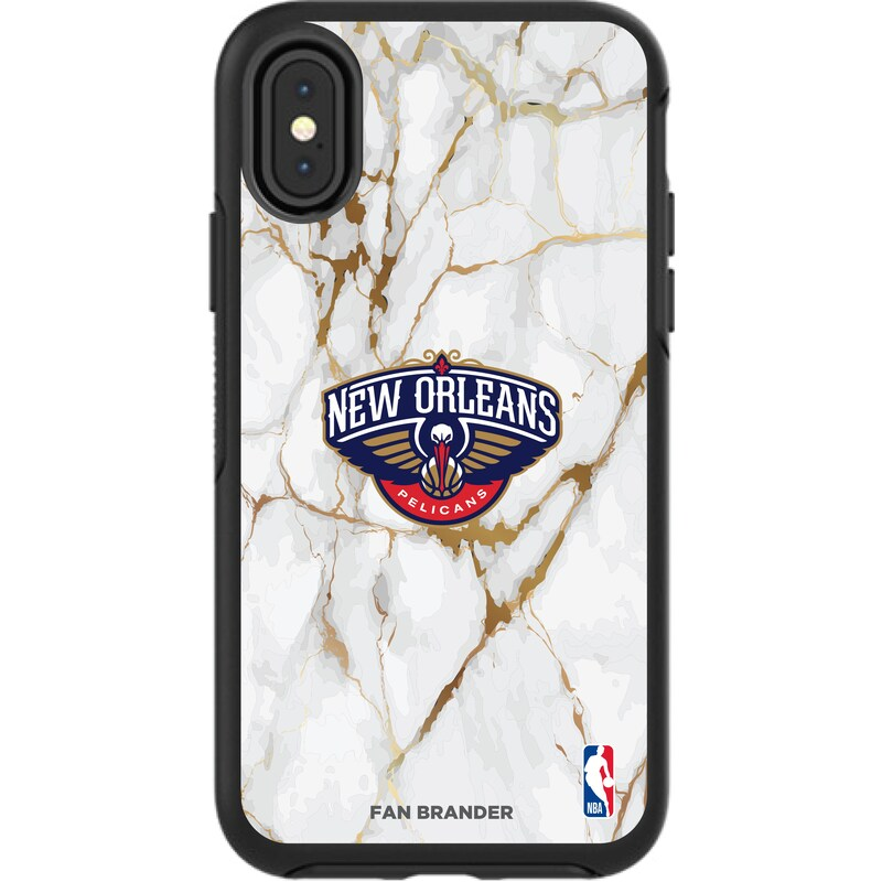 New Orleans Pelicans iPhone Symmetry Marble Case - Black