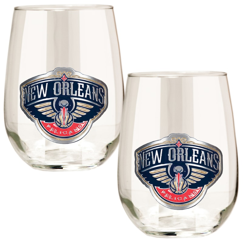 New Orleans Pelicans Stemless Wine Glass Set