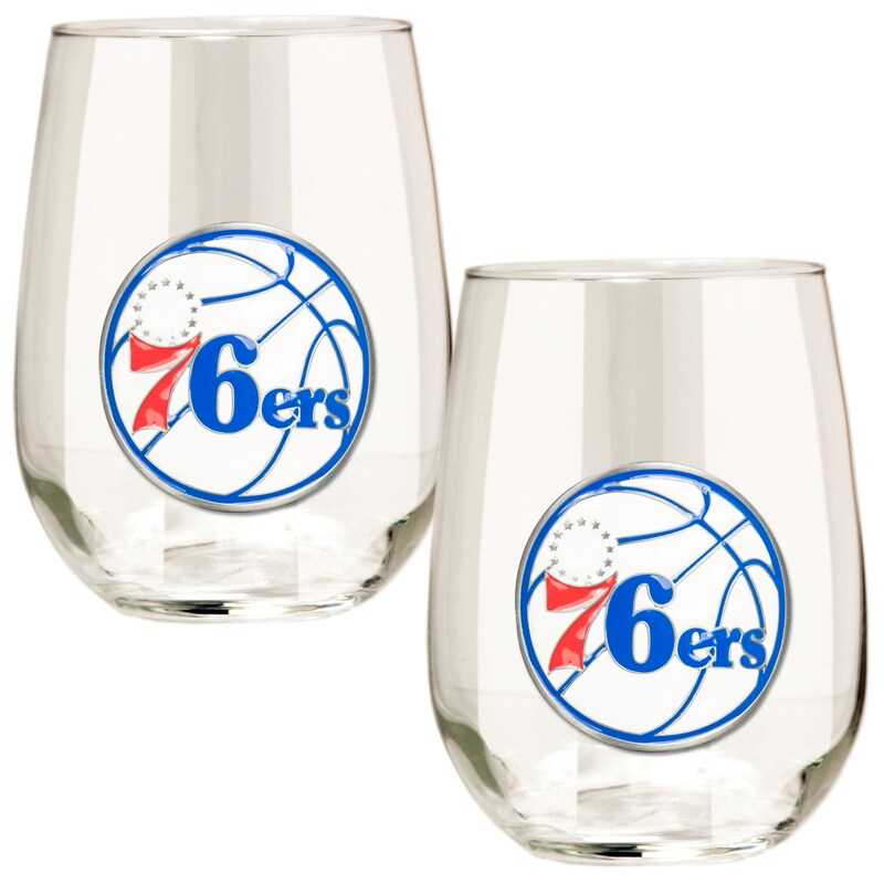 Philadelphia 76ers Stemless Wine Glass Set
