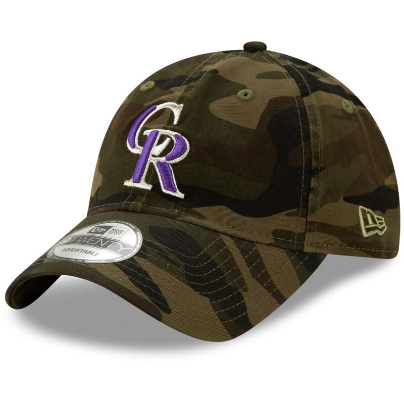 Colorado Rockies New Era Core Classic 9TWENTY Adjustable Hat - Camo