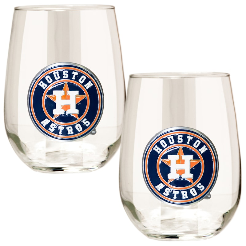 Houston Astros Stemless Wine Glass Set