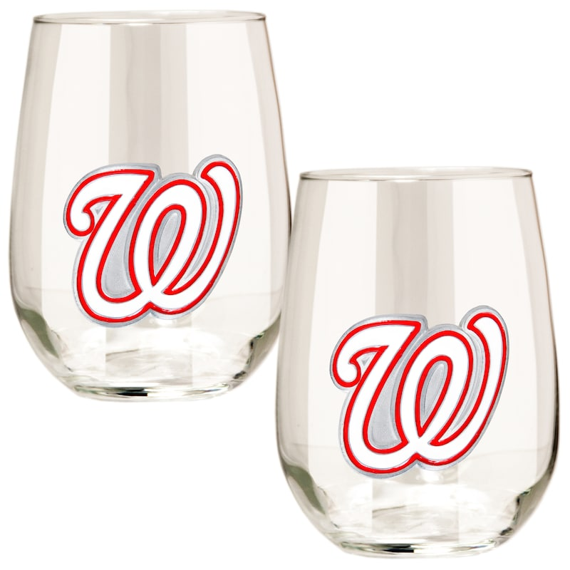 Washington Nationals Stemless Wine Glass Set