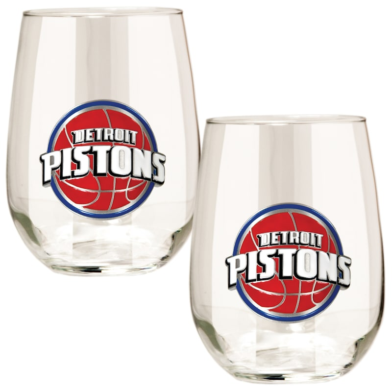 Detroit Pistons Stemless Wine Glass Set