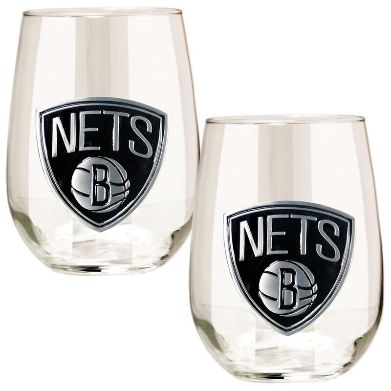 Brooklyn Nets Stemless Wine Glass Set