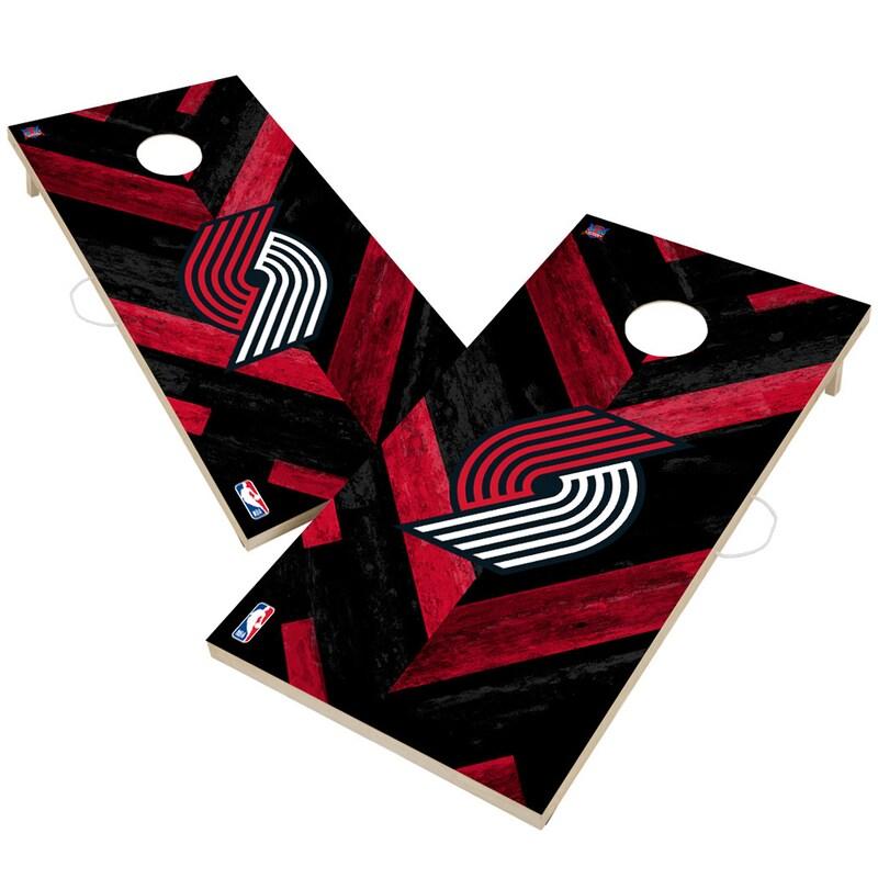 Portland Trail Blazers 2' x 4' Herringbone Design Cornhole Set