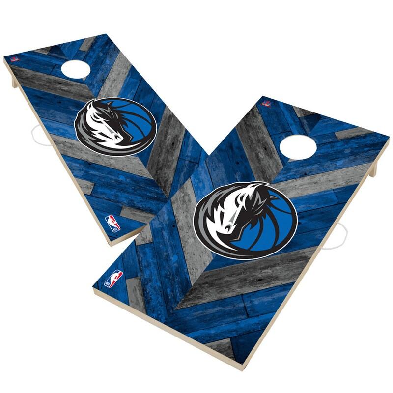 Dallas Mavericks 2' x 4' Herringbone Design Cornhole Set