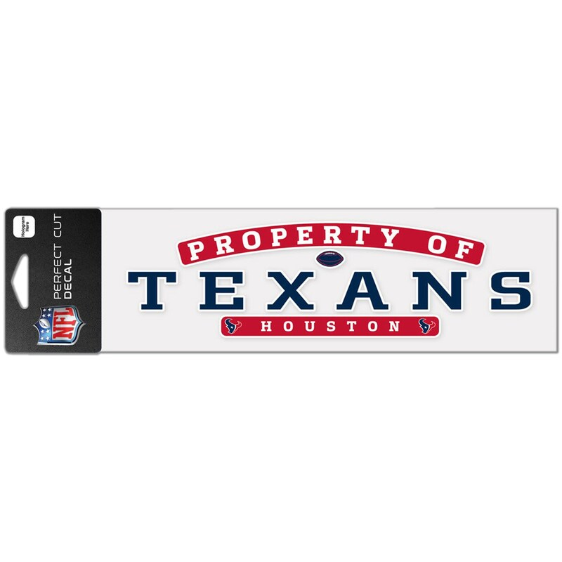 """Houston Texans WinCraft 3"""" x 10"""" Property Of Perfect Cut Decal"""
