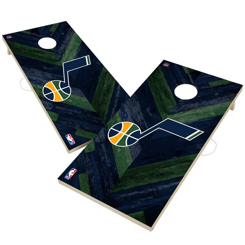 Utah Jazz 2' x 4' Herringbone Design Cornhole Set