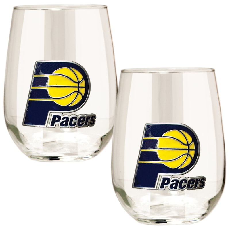 Indiana Pacers Stemless Wine Glass Set