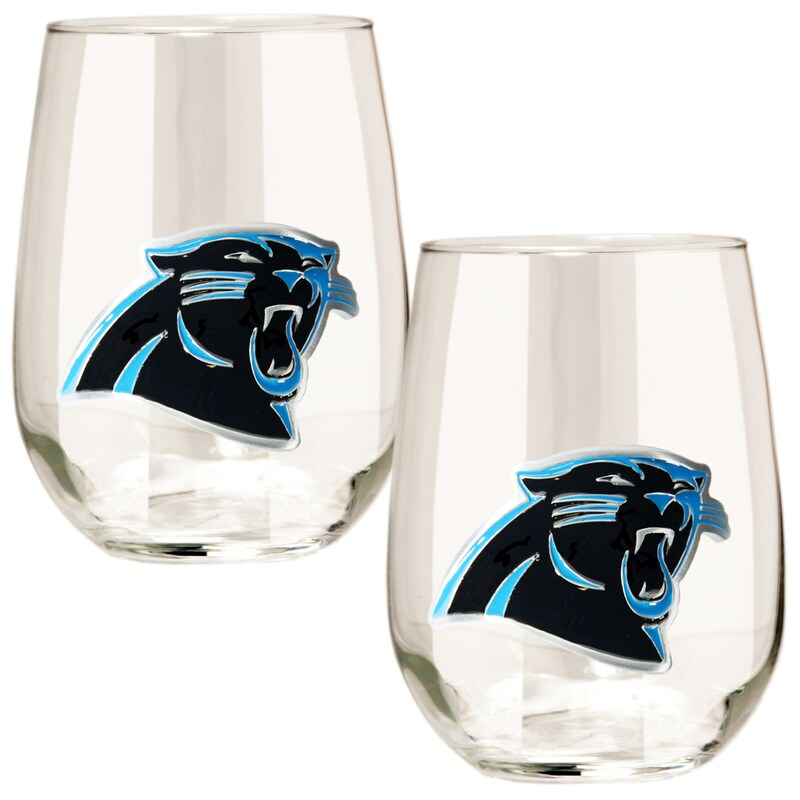 Carolina Panthers 15oz. Stemless Wine Glass Set