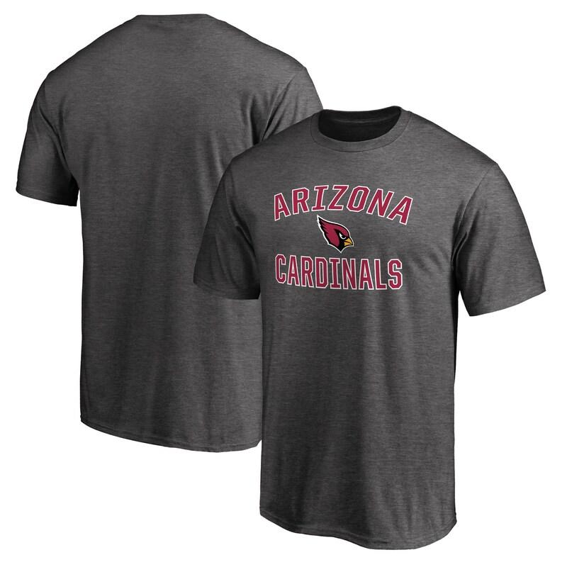 Arizona Cardinals NFL Pro Line by Fanatics Branded Victory Arch T-Shirt - Gray