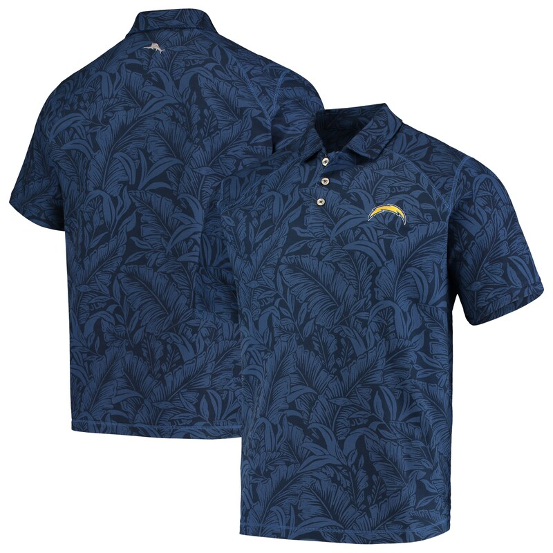 Los Angeles Chargers Tommy Bahama Sport Leafbacker Polo - Navy