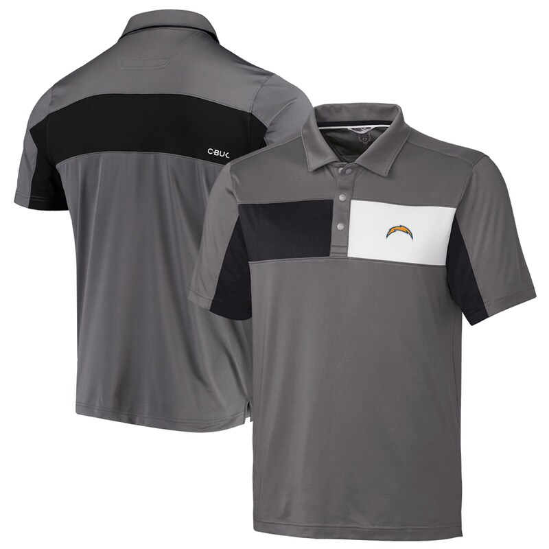 Los Angeles Chargers CBUK by Cutter & Buck Logan Polo - Gray