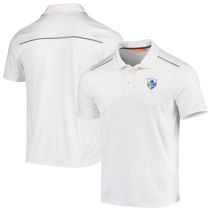 Los Angeles Chargers CBUK by Cutter & Buck Throwback Chance Polo - White