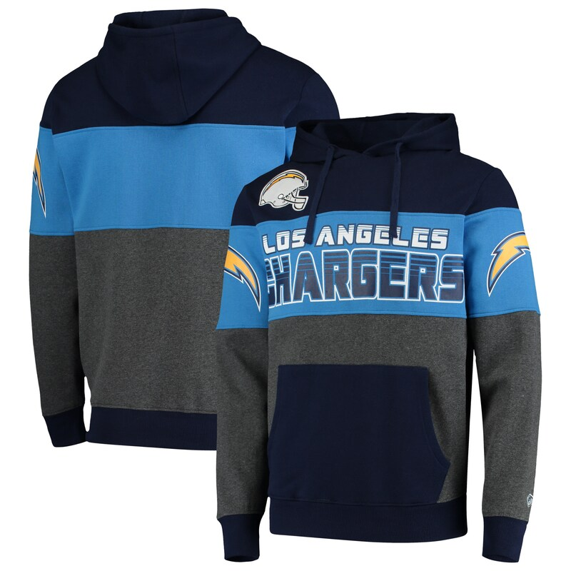 Los Angeles Chargers G-III Sports by Carl Banks Extreme Special Team Pullover Hoodie - Navy/Charcoal
