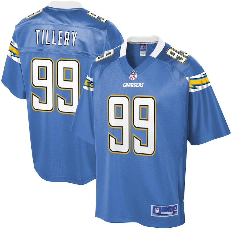 Jerry Tillery Los Angeles Chargers NFL Pro Line Game Jersey - Powder Blue