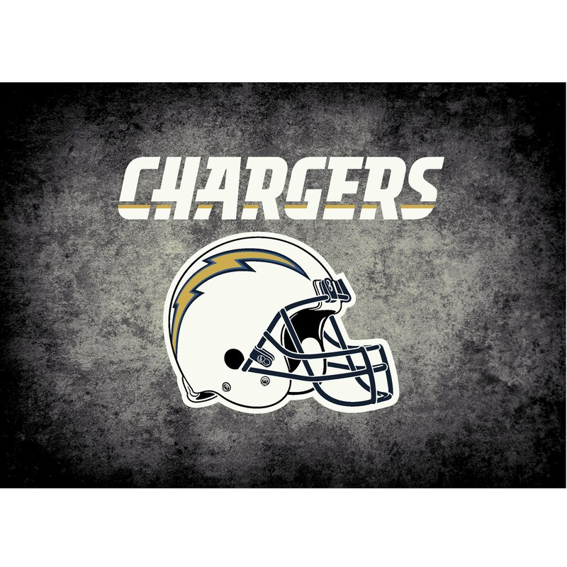 Los Angeles Chargers Imperial 4' x 6' Distressed Rug