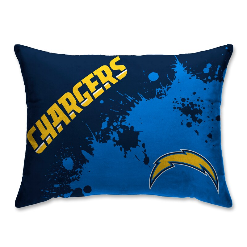 Los Angeles Chargers Splatter Plush Bed Pillow - Blue