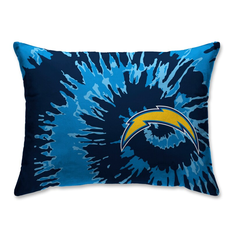Los Angeles Chargers Tie Dye Plush Bed Pillow - Blue