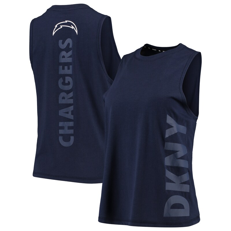 Los Angeles Chargers DKNY Sport Women's Olivia Tri-Blend Tank Top - Navy