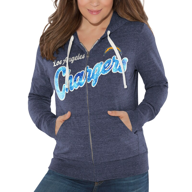 Los Angeles Chargers Touch by Alyssa Milano Women's All American Full-Zip Hoodie - Navy