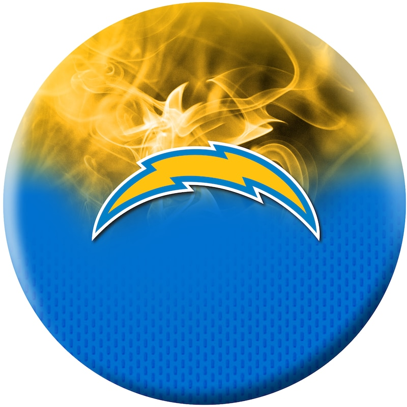 Los Angeles Chargers NFL On Fire Undrilled Bowling Ball