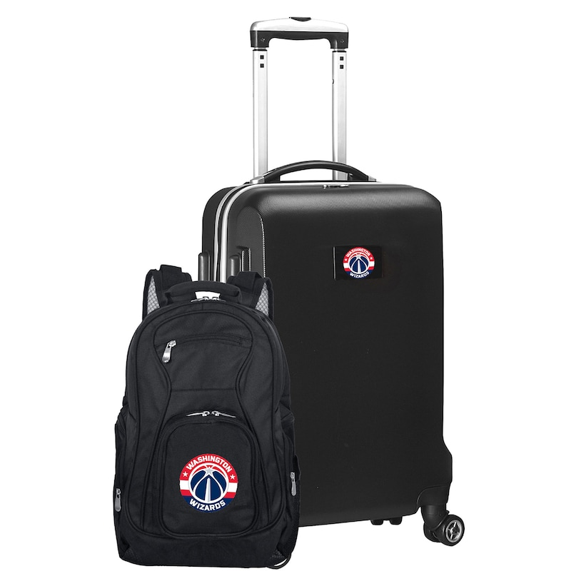 Washington Wizards Deluxe 2-Piece Backpack and Carry-On Set - Black