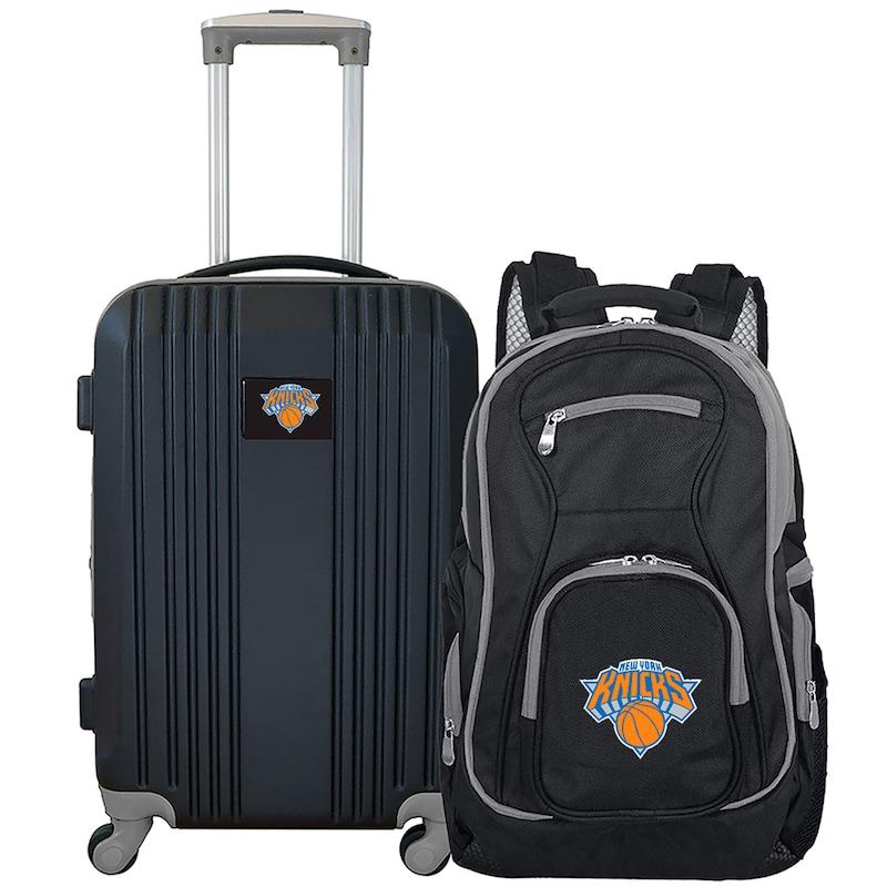 New York Knicks 2-Piece Luggage & Backpack Set - Black