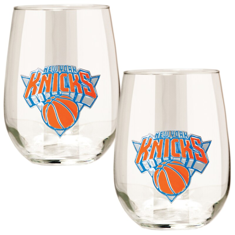 New York Knicks Stemless Wine Glass Set