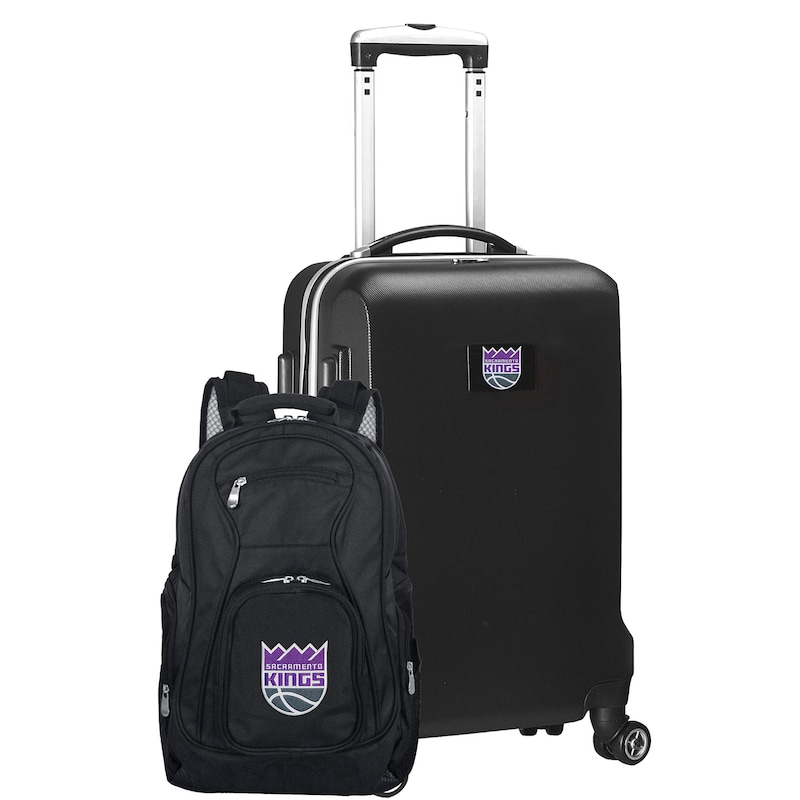 Sacramento Kings Deluxe 2-Piece Backpack and Carry-On Set - Black