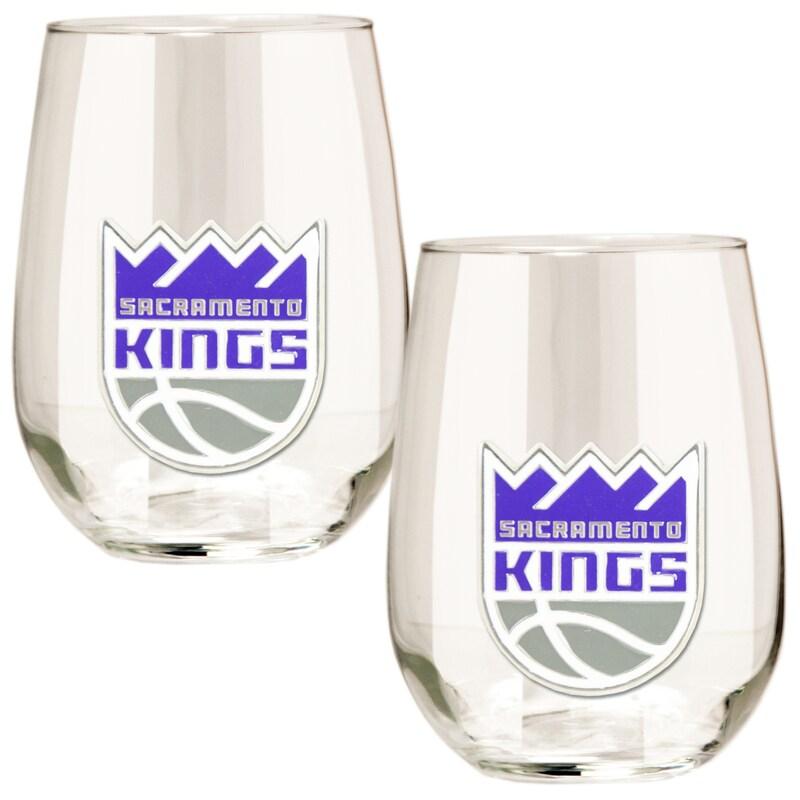 Sacramento Kings Stemless Wine Glass Set