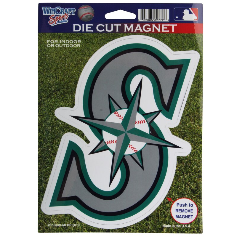 """Seattle Mariners WinCraft 6"""" x 9"""" Car Magnet"""