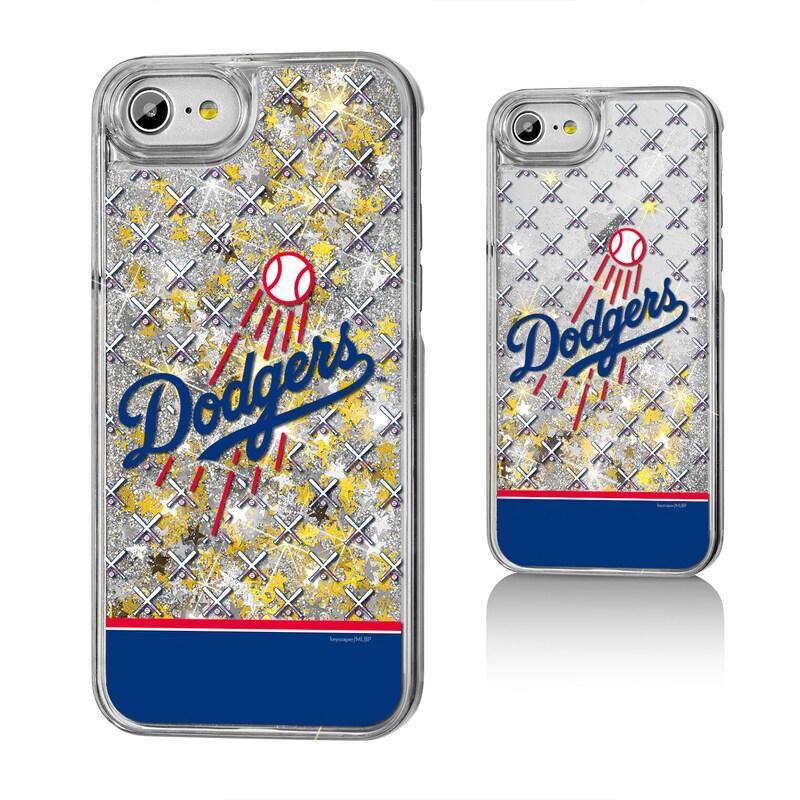 Los Angeles Dodgers iPhone 6/6s/7/8 Logo Stripe Gold Glitter Case