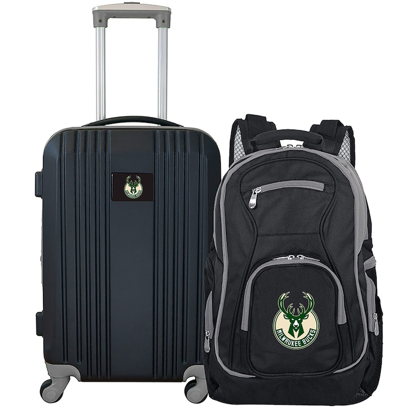 Milwaukee Bucks 2-Piece Luggage & Backpack Set - Black