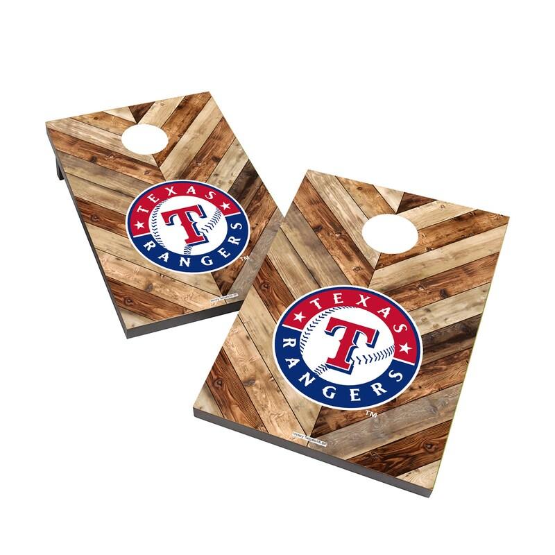 Texas Rangers 2' x 3' Logo Cornhole Board Tailgate Toss Set