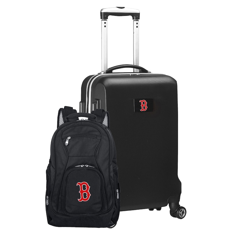 Boston Red Sox Deluxe 2-Piece Backpack and Carry-On Set - Black