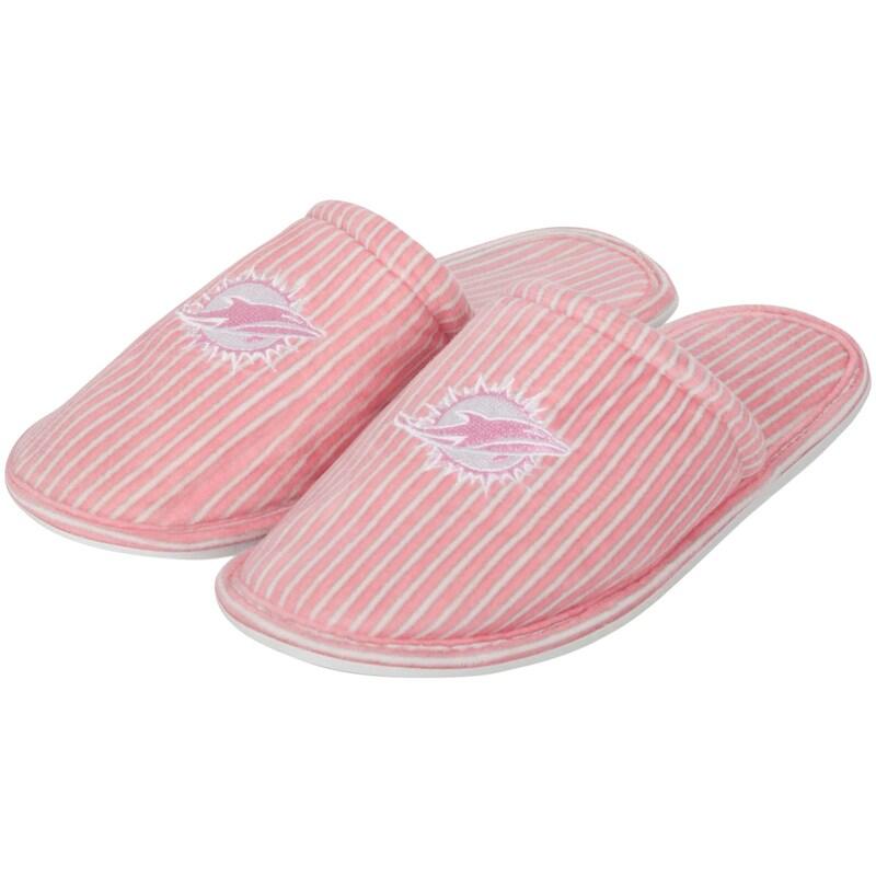 Miami Dolphins Women's Slide Slipper - Pink