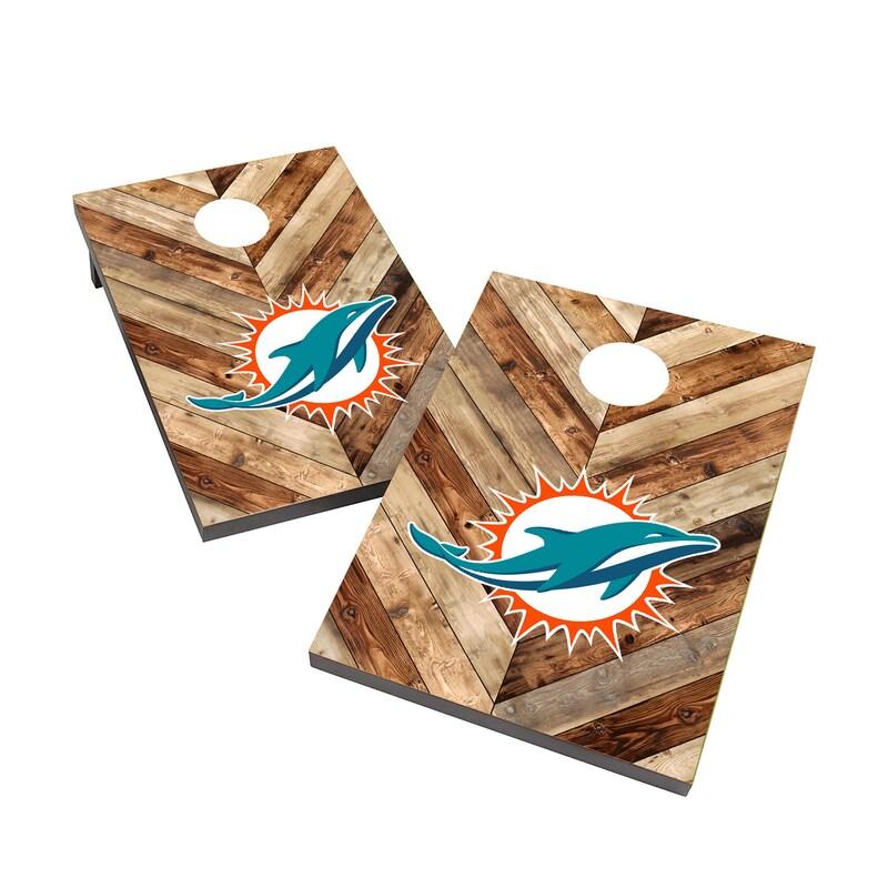 Miami Dolphins 2' x 3' Cornhole Board Tailgate Toss Game