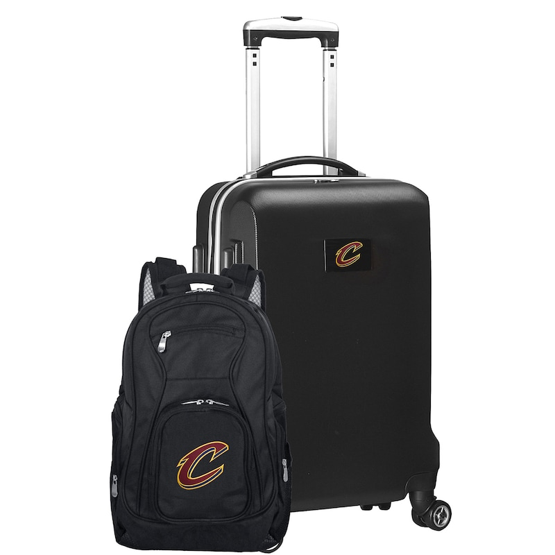 Cleveland Cavaliers Deluxe 2-Piece Backpack and Carry-On Set - Black