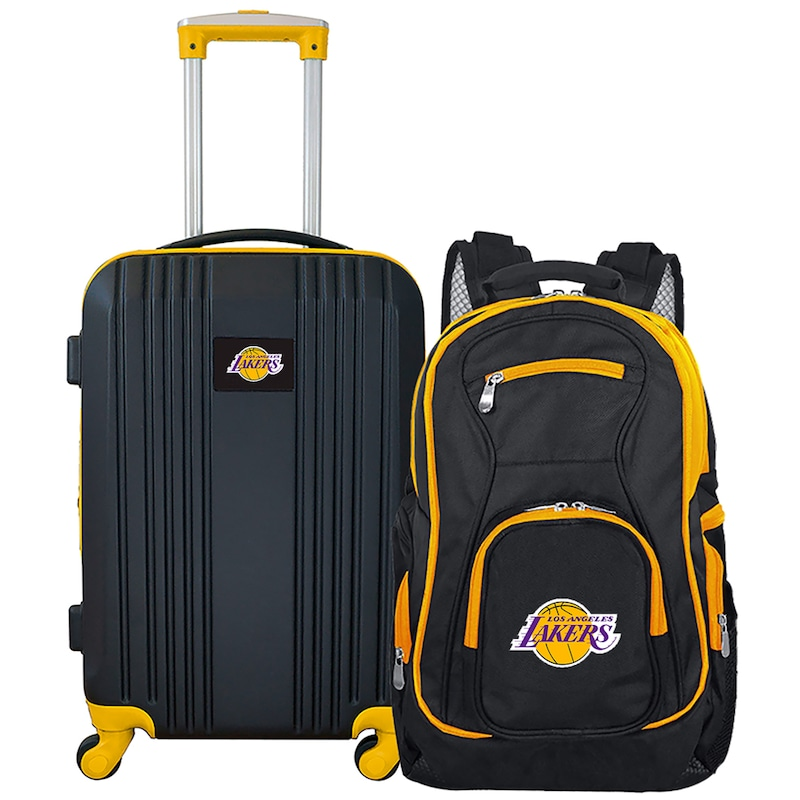 Los Angeles Lakers 2-Piece Luggage & Backpack Set - Black